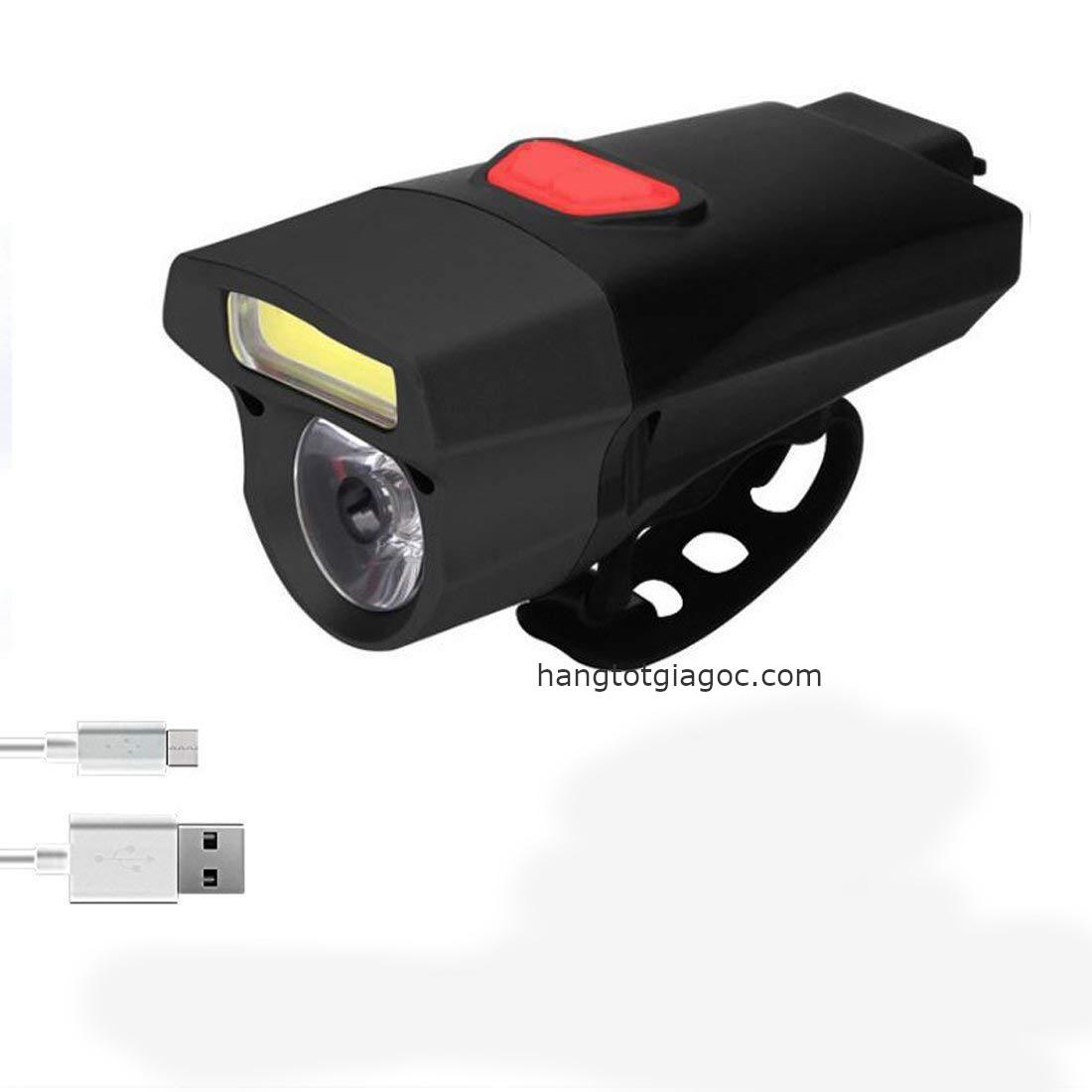 Đèn xe đạp siêu sáng cao cấp, pin Lithium, sạc USB – DX03